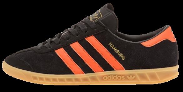 Adidas Hamburg Core Black Collegiate Orange Gum