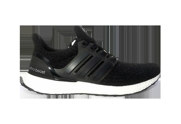Adidas Ultra Boost Черные с белой подошвой