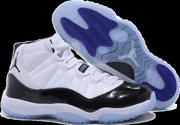 Nike Air Jordan 11 Retro Concord Бело-черные