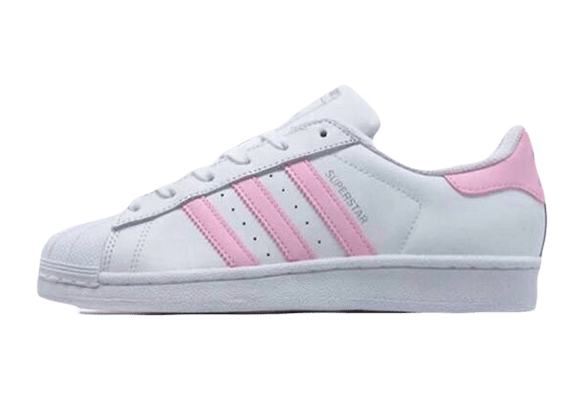 Adidas Superstar Кожаные белые с розовым