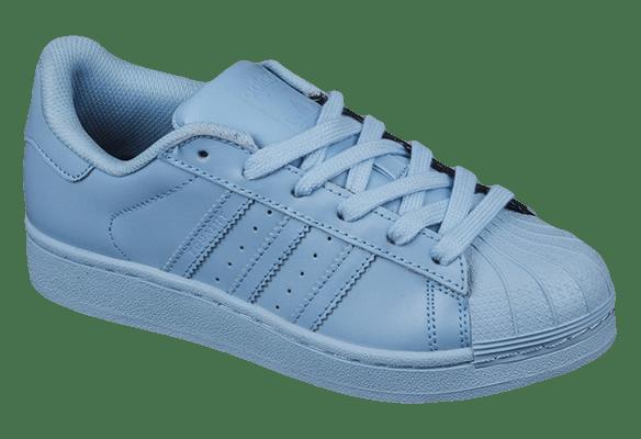 Adidas Superstar Кожаные голубые