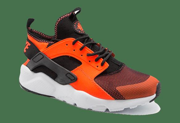 Nike Air Huarache Ultra чёрные с оранжевым