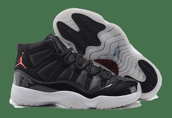 Nike Air Jordan 11 Retro черные с белым