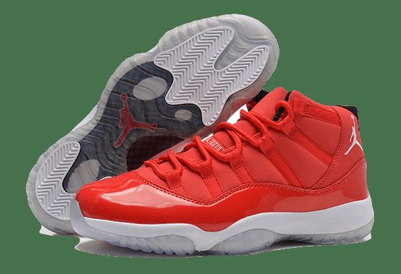 Nike Air Jordan 11 Retro красные с белым