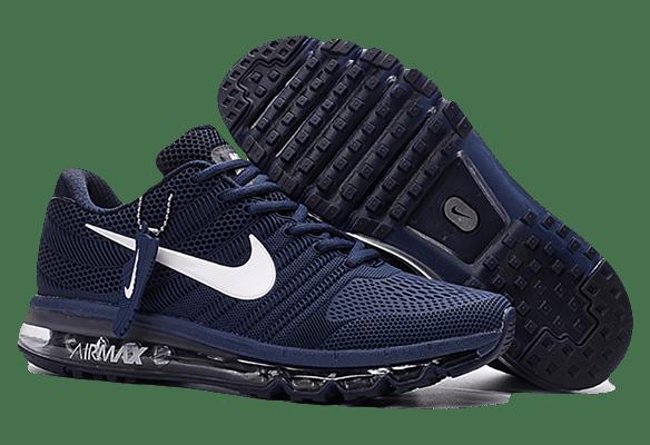 Nike Air Max 2017 сетка темно-синие с белым