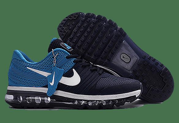 Nike Air Max 2017 сетка темно-синие с голубым