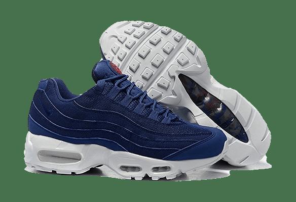 Nike Air Max 95 синие с белой подошвой