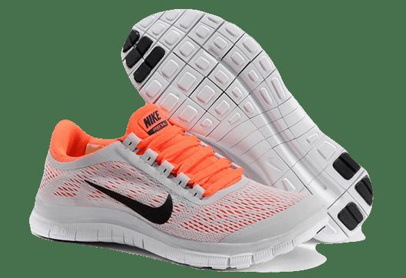 Nike Free Run 3.0 V5 серые с оранжевым