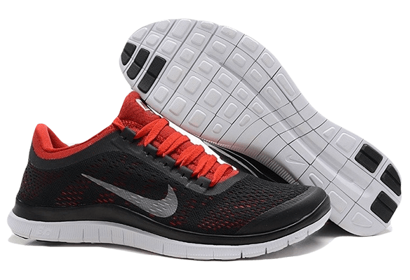Nike Free Run 3.0 красно-черные