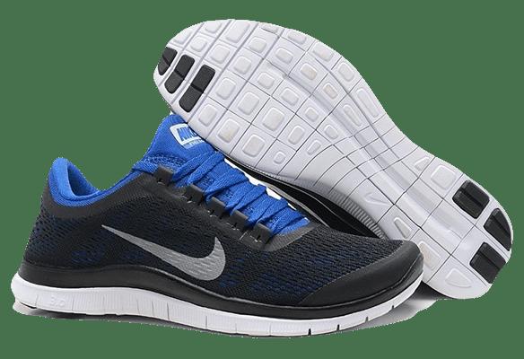 Nike Free Run 3.0 сине-черные
