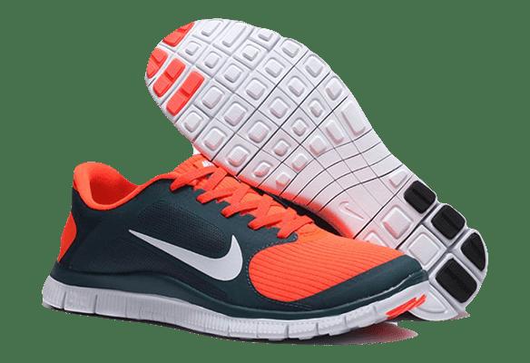 Nike Free Run 4.0 темно-синие с оранжевым