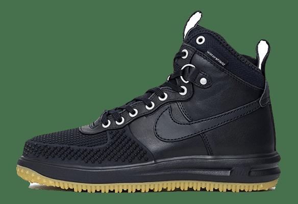 Nike Lunar Force 1 кожа-сетка черные