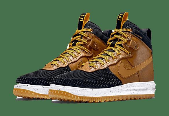 Nike Lunar Force 1 кожа-сетка коричневые с черным
