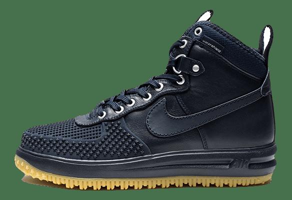Nike Lunar Force 1 кожа-сетка темно-синие