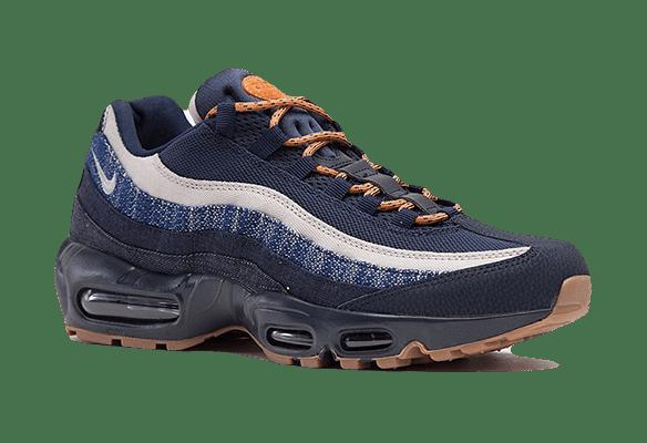 Nike Air Max 95 темно-синие с белым