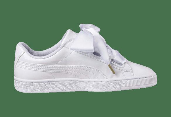 Puma Basket Heart Кожаные белые