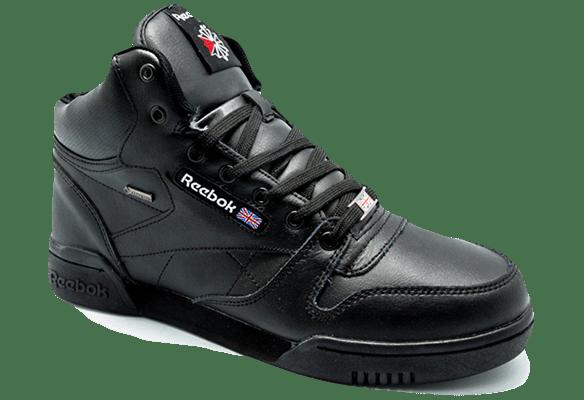 Reebok Classic с натуральным мехом кожаные черные