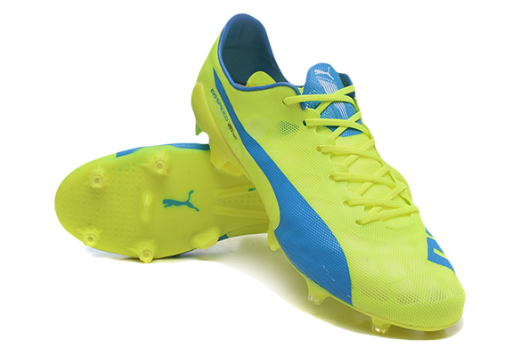 Puma Evospeed 1.4 SL FG Soccer Boots Желтые с Синим