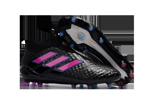 Adidas Ace 17+ Purecontrol FG Черные с Розовым