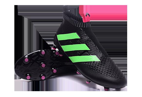 Adidas Ace16+ Purecontrol Черные с Зеленым