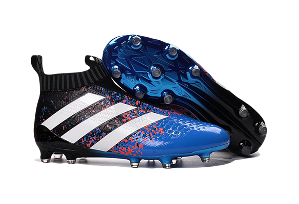 Adidas Ace 16+ Purecontrol Голубые с Черным