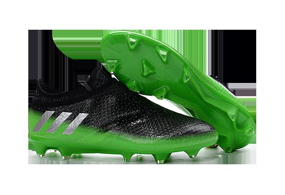 Adidas Messi 16+ Pureagility Fg/Ag Черные с Зеленым