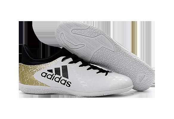 Adidas X 16.3 IC Белые с Золотым