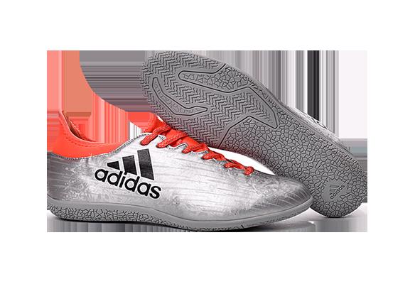 Adidas X 16.3 IC Серые с Оранжевым