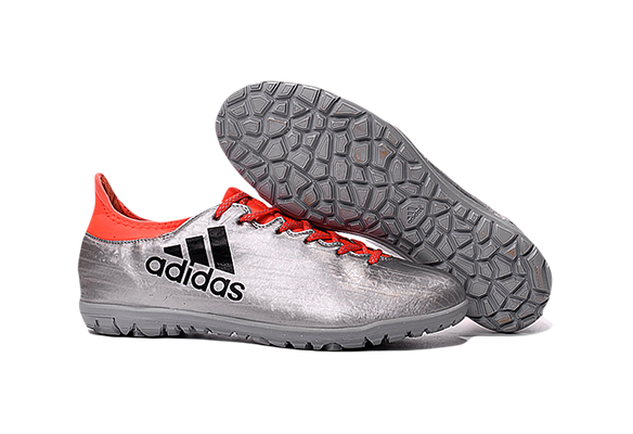 Adidas X 16.3 Turf Silver Red Black