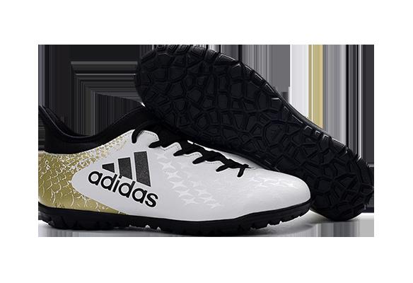 Adidas X 16.3 Turf White Black Gold