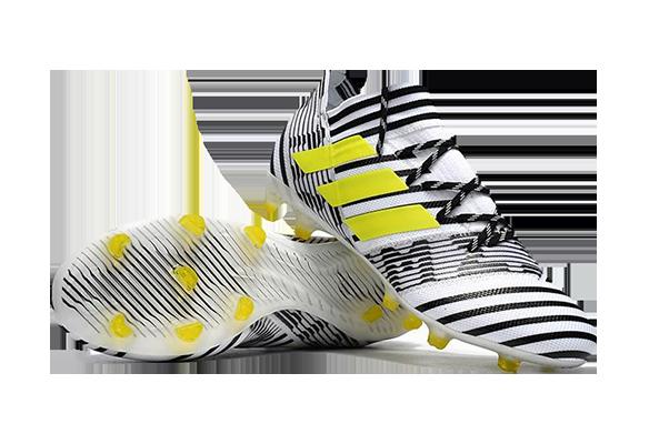 Adidas Nemeziz 17.1 Fg Черно-белые с Желтым
