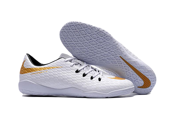 Nike Hypervenom IC Белые с Золотым