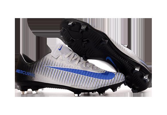 Nike Mercurial Vapor XI FG Белые с Синим