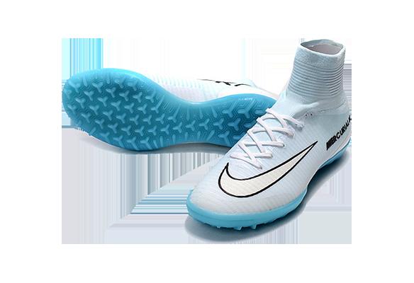 Nike Mercurial Proximo II CR7 TF Белые с Голубым