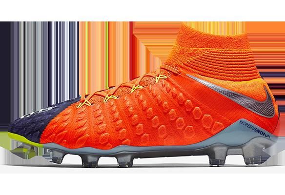 Nike Hypervenom Phantom III Df FG Оранжевые с Синим