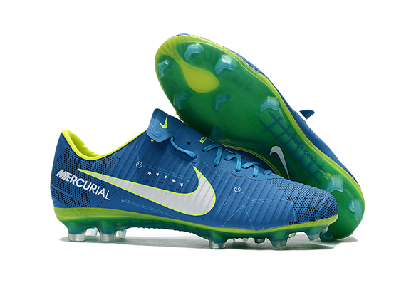 Nike Mercurial Superfly V FG Синие с белым