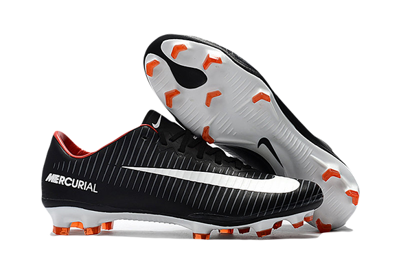 Nike Mercurial Superfly V FG Черные с полосками