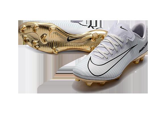 Nike Mercurial Vapor XI FG Белые с Золотым