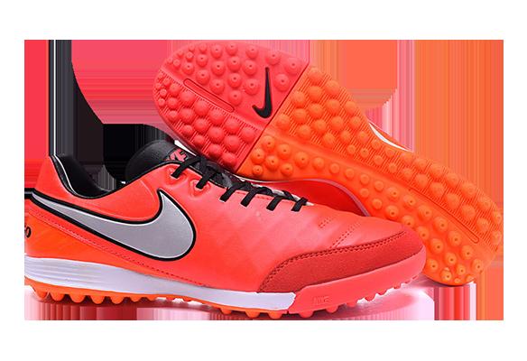 Nike Tiempo Legend V TF Оранжевые