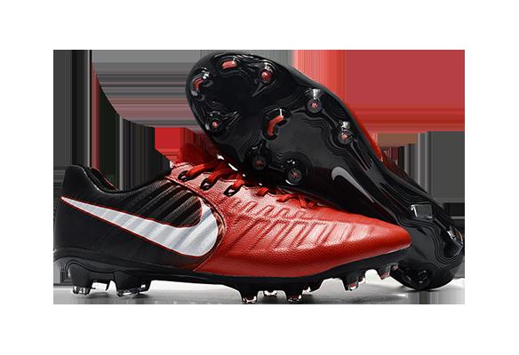 Nike Tiempo VII FG Красные с Черным