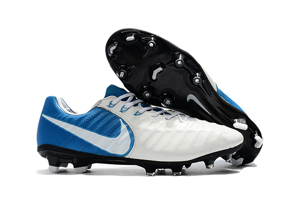 Nike Tiempo VII FG Белые с Синим