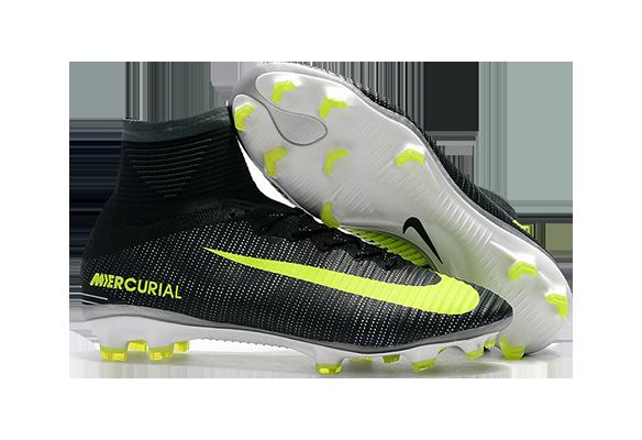 Nike Mercurial Superfly V CR7 FG Черные с салатовым