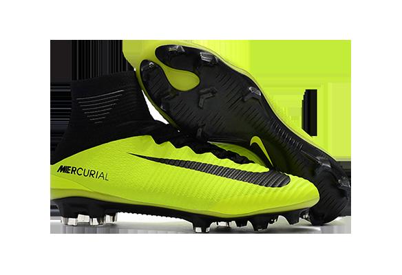Nike Mercurial Superfly V FG Черно-зеленые
