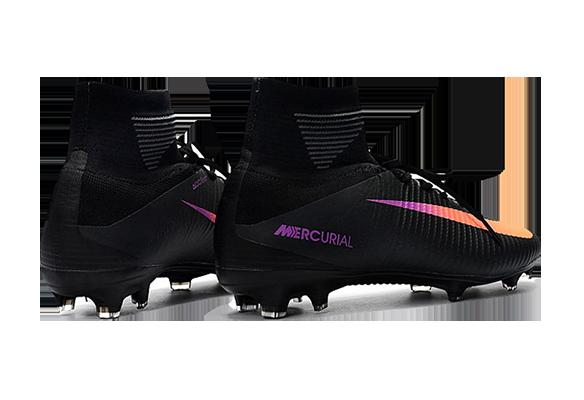 Nike Mercurial Superfly V FG Черно-оранжевые