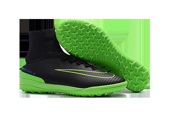 Nike MercurialX Proximo II TF Черные с Зеленым