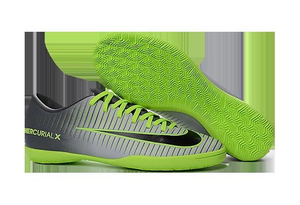Nike Mercurical Victory VI IC Серые с Зеленым
