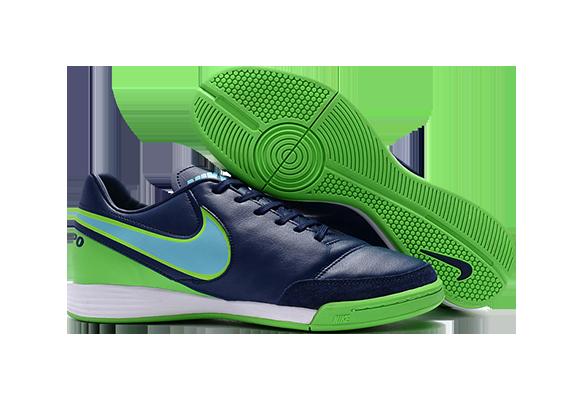 Nike Tiempo Mystic V IC Синие с Зеленым