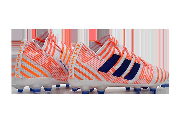 Adidas Nemeziz 17.1 FG Белые с оранжевым