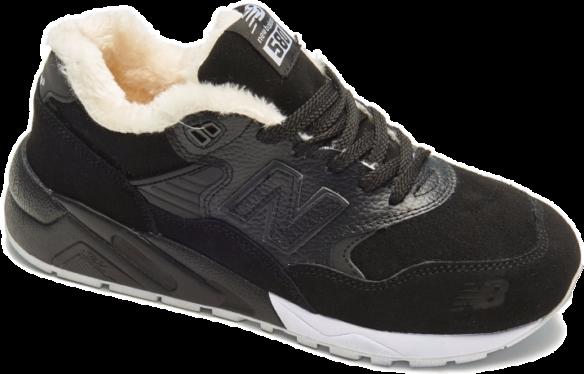 New Balance 580 С Натуральным мехом черные