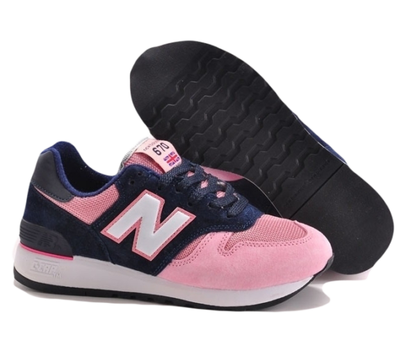 New Balance 670 Розовые с Синим